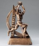 Male Basketball Ultra Action Sports Resin Trophy Resins & Trophies