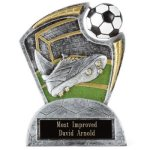 Large Spin Award Soccer Resins & Trophies