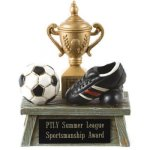Vintage Trophy Award Soccer Resins & Trophies