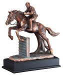 Horse Jumper Signature Black Resin Trophy Awards