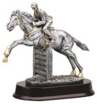 Jumper Horse, Male Signature Rosewood Resin Trophy Awards