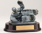 Hockey Goalie Signature Rosewood Resin Trophy Awards
