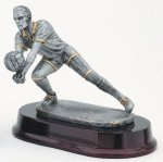 Volleyball, Male Signature Rosewood Resin Trophy Awards