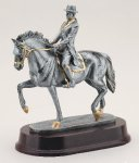 Dressage Horse Signature Rosewood Resin Trophy Awards