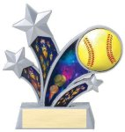 Rising Star Softball Star Resin Softball Awards