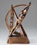 Male Swimming Ultra Action Sports Resin Trophy Swimming Awards