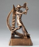 Female Tennis Ultra Action Sports Resin Trophy Tennis Awards