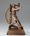 Male Tennis Ultra Action Sports Resin Trophy Tennis Awards