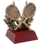 Tennis W/ Racquets Resin Tennis Awards