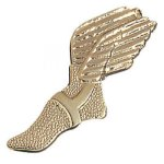 Winged Foot Chenille Pin Track Awards