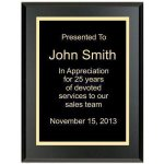 Matte Black Recognition Plaque Value Line Plaques