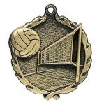 Wreath Volleyball Medals Volleyball Awards