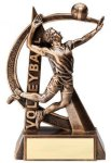 Male Volleyball Ultra Action Sports Resin Trophy Volleyball Awards