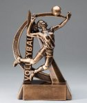 Female Volleyball Ultra Action Sports Resin Trophy Volleyball Awards