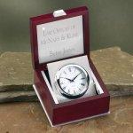 Clock in a Box Wood Metal Accent Awards