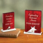 Wood with Star Wood Metal Accent Awards